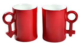 10oz Couple Magic Mug Red
