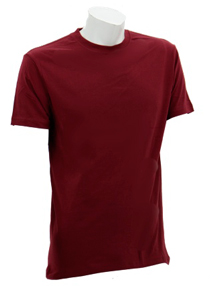 Burgandy Soft Cotton Tee (160gsm)