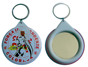 button badge mirror key chain