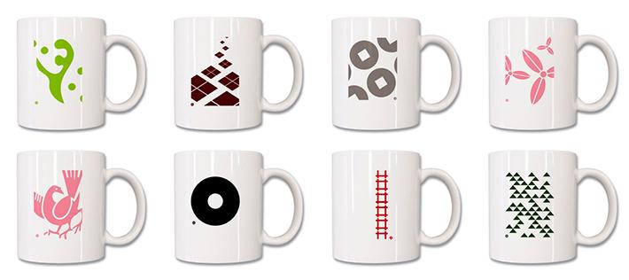 custom white mug printing
