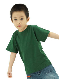 Bottle Green Kids Soft Cotton Tee (Short Sleeve)