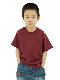 Burgandy Kids Soft Cotton Tee (Short Sleeve)