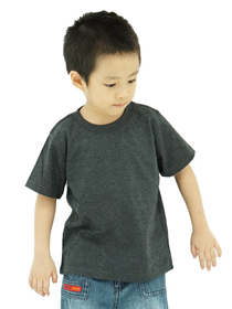Dark Melange Kids Soft Cotton Tee (Short Sleeve)