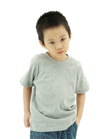 Grey Melange Kids Soft Cotton Tee (Short Sleeve)