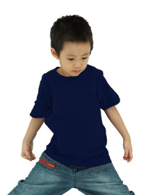 Navy Blue Kids Soft Cotton Tee (Short Sleeve)