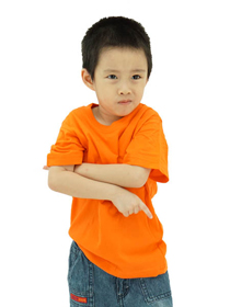 Orange Kids Soft Cotton Tee (Short Sleeve)