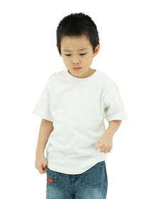 White Kids Soft Cotton Tee (Short Sleeve)