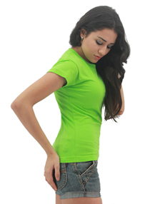 Apple Green Ladies Soft Cotton Tee (Ladies Cutting)