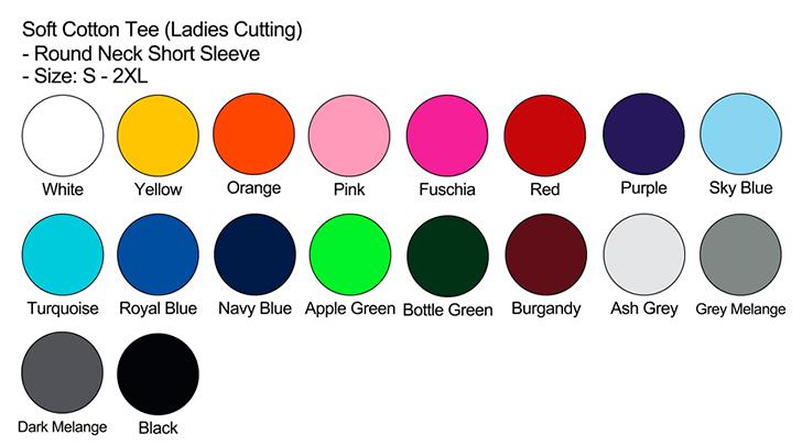 Long Sleeve Color Chart