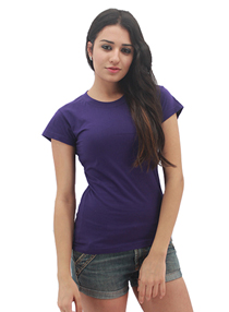 Purple Ladies Soft Cotton Tee (Ladies Cutting)