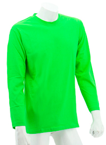 Apple Green Long Sleeve Soft Cotton Tee (Round-Neck)