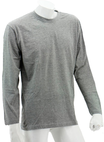 Grey Melange Long Sleeve Soft Cotton Tee (Round-Neck)