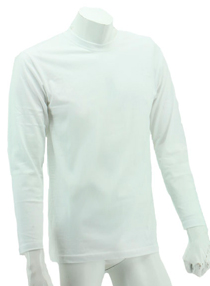 White Long Sleeve Soft Cotton Tee (Round-Neck)