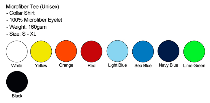 Microfiber Collar Female Color Chart