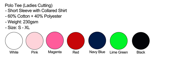 Polo Female Color Chart