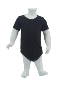 Black Baby Romper Soft Cotton Tee (180gsm Cotton)