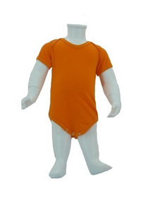 Orange Baby Romper Soft Cotton Tee (180gsm Cotton)