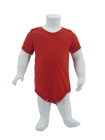 Red Baby Romper Soft Cotton Tee (180gsm Cotton)