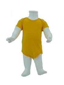 Yellow Baby Romper Soft Cotton Tee (180gsm Cotton)