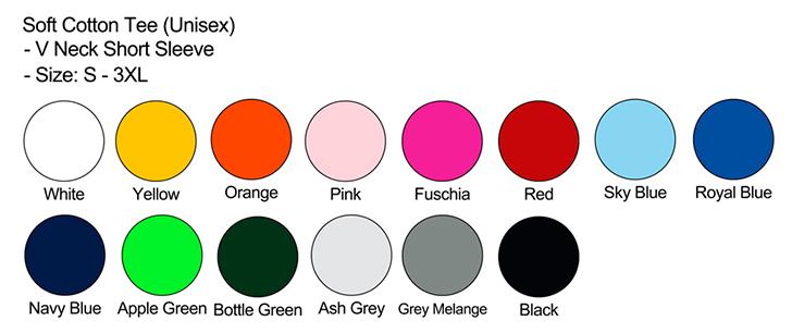 Unisex Color Chart