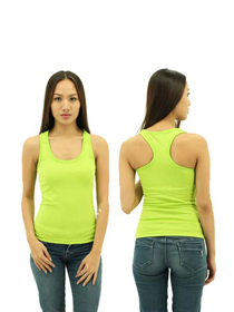 Apple Green Ladies X-Back Soft Cotton Tee