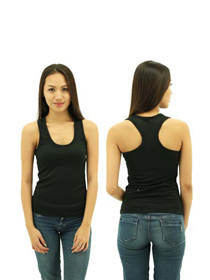Black Ladies X-Back Soft Cotton Tee