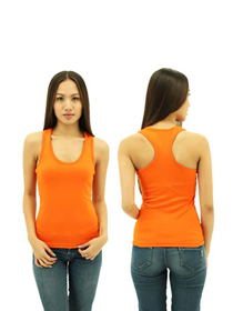 Orange Ladies X-Back Soft Cotton Tee