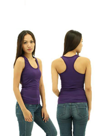 Purple Ladies X-Back Soft Cotton Tee