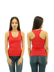 Red Ladies X-Back Soft Cotton Tee