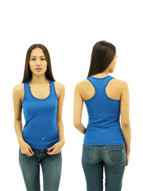 Royal Blue Ladies X-Back Soft Cotton Tee