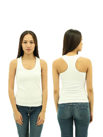 White Ladies X-Back Soft Cotton Tee