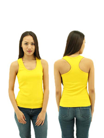 Yellow Ladies X-Back Soft Cotton Tee